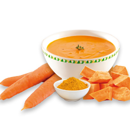Soupe Patate douce, carottes, curry